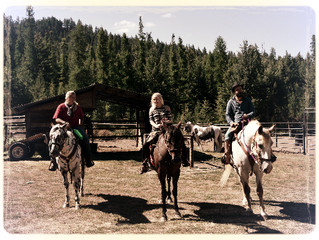 Horseback riding before breakfast