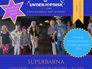 Superbarna kommer til Gjøvik!