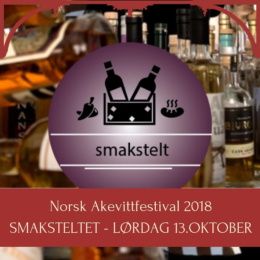 Norsk Akevittfestival 2018 / Inngang til Smaksteltet + smakshefte LØRDAG (1)