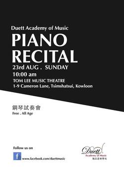 Piano Recital@Tomlee 2015