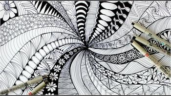藝術小百科: 禪繞畫(Zentangle)
