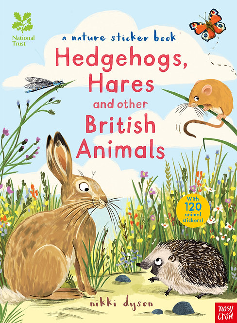 Hedgehogs, Hares and other British Animals (sticker book)