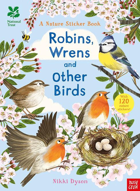 Robins, Wrens and other British Birds (sticker book)