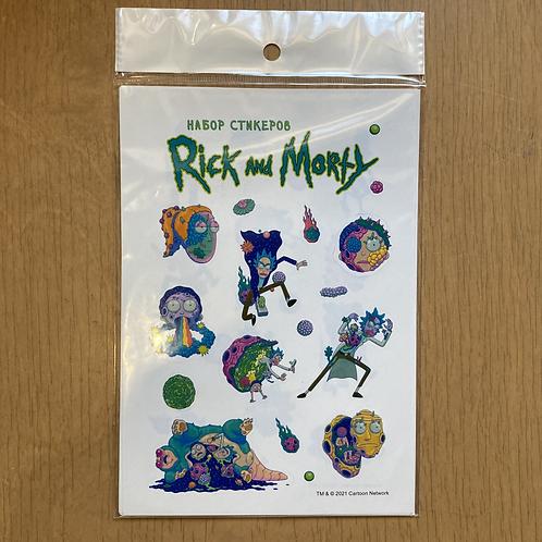 Набор стикеров. Рик и Морти (формат А5, в пакете)