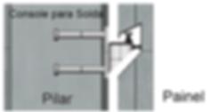 Fixação de Painéis, Fixação de Placas, Consoles Metálicos, Consolos Metálicos, Chapa de Apoio, Console Soldado