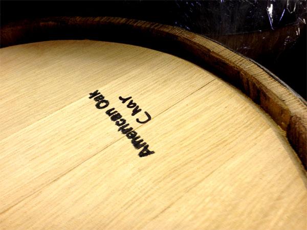 Charred American Oak.