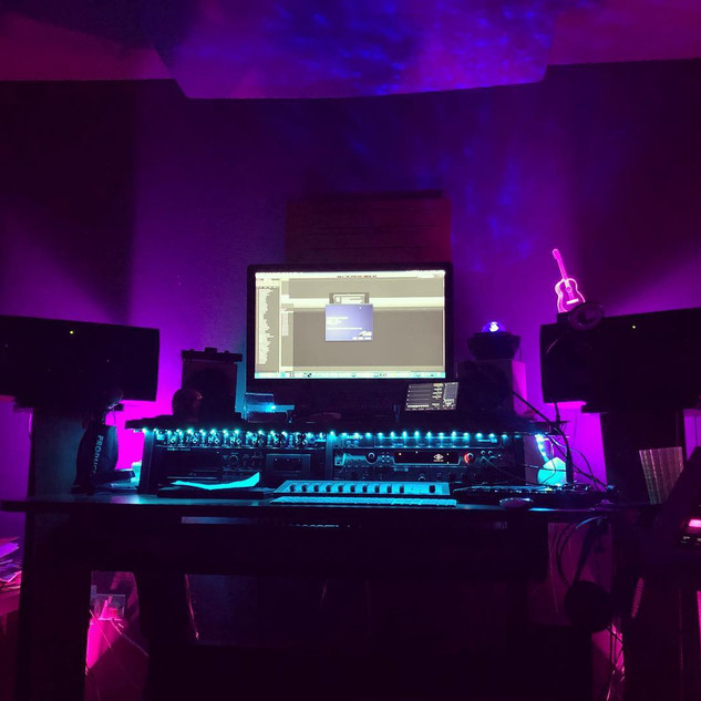 Mood lighting in the studio