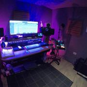 The main studio desk at Ten 87 Studios