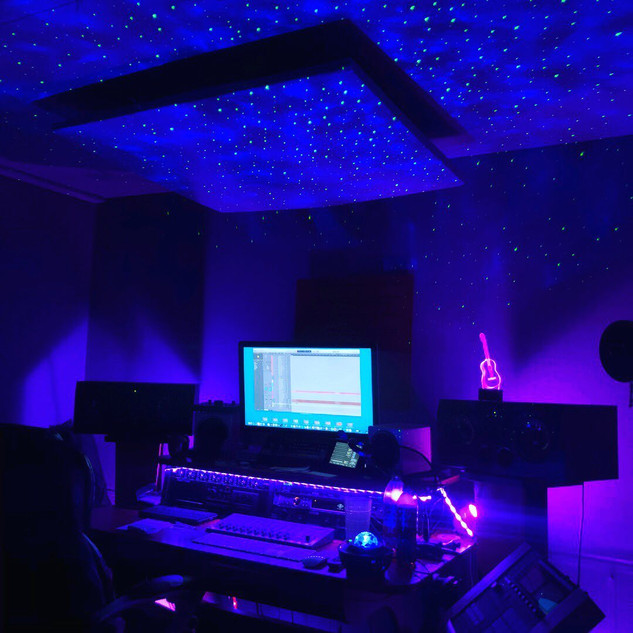 Main studio with ceiling lights!
