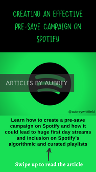 Create An Effective Pre-SAve Campaign on Spotify