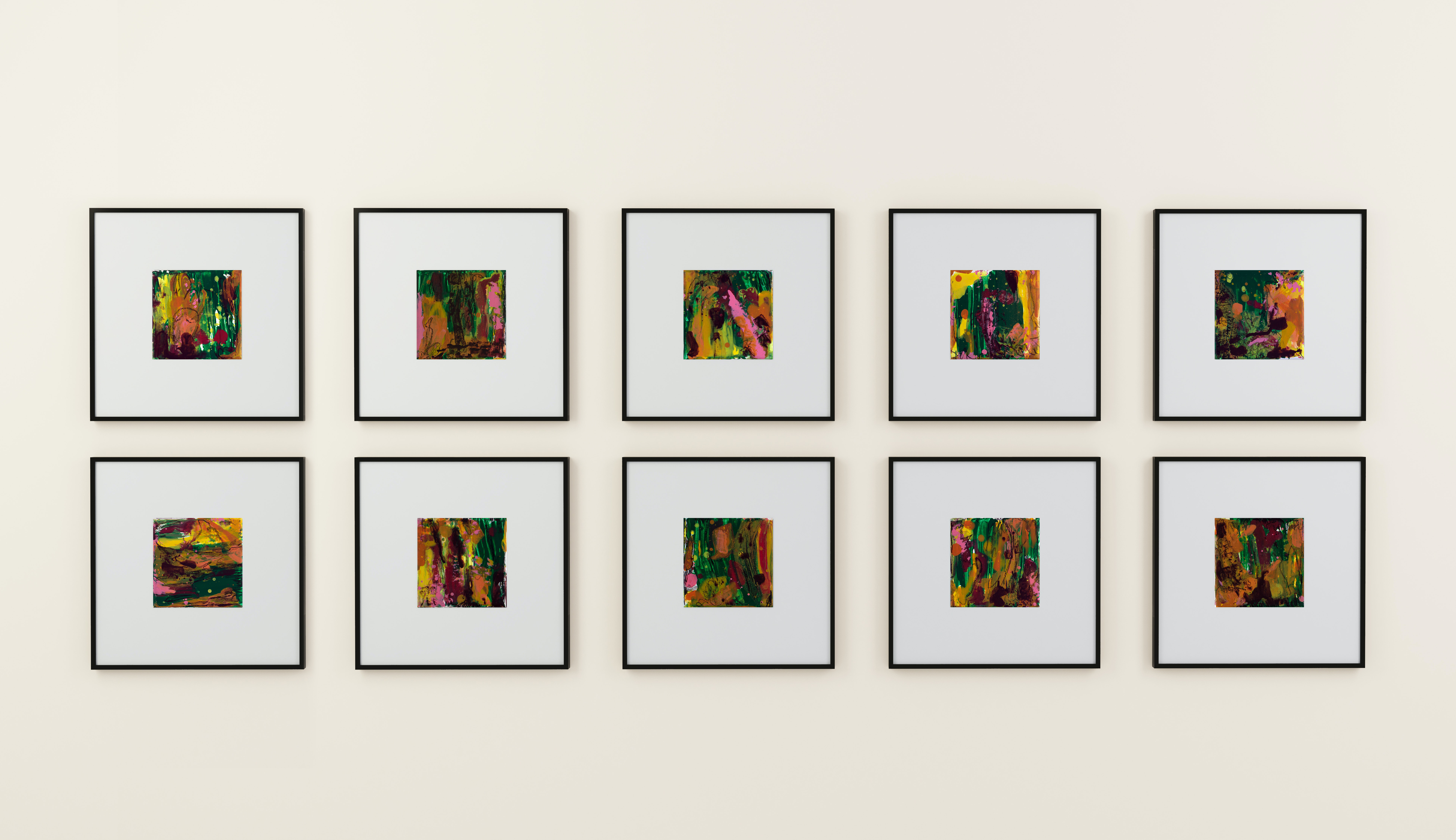 Hiking. 10 Canvases, each is 10 x 10 cm as one connected group. Arrange them like a puzzle.
