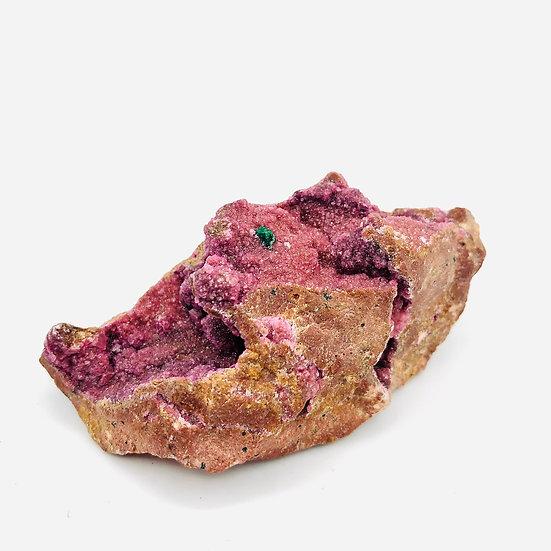 Cobalto Calcite rose | brut avec dépôts de malachite