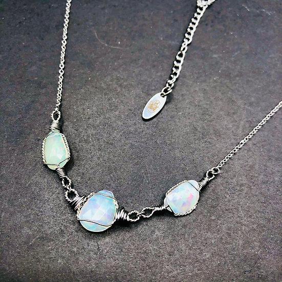 Opale de feu facettée
