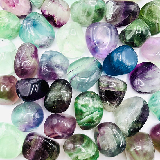 Fluorite multicolore | pierre roulée