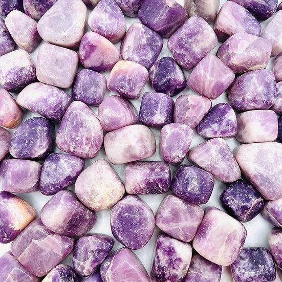 Lépidolite | pierre roulée