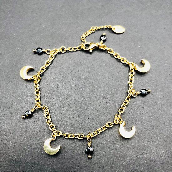 Bracelet à breloques | obsidienne