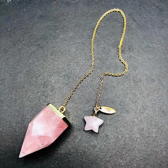 Pendule de quartz rose