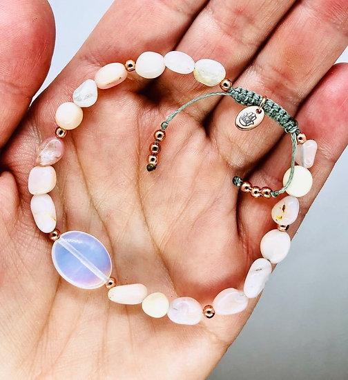 Opale rose et opalite