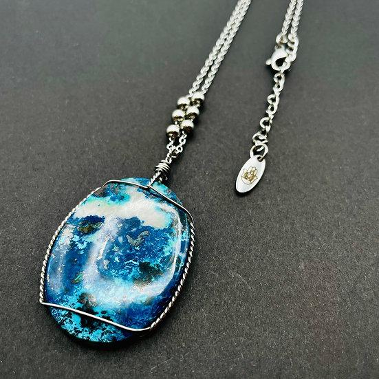 Azurite bleue