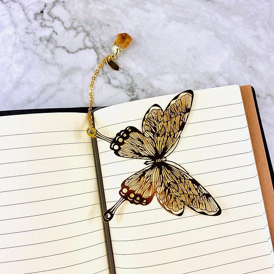 Signet papillon et citrine