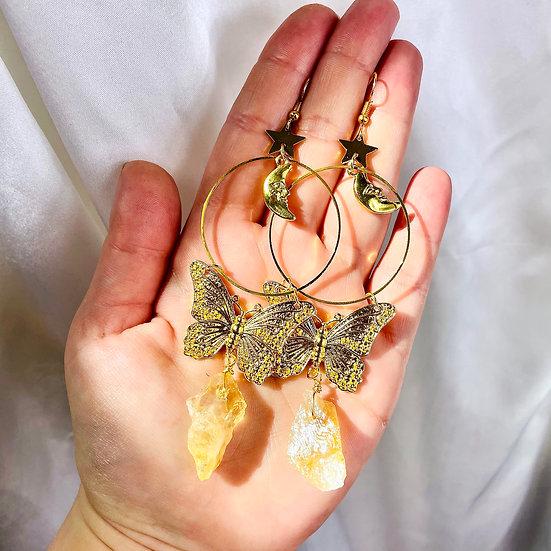 Citrine et papillons