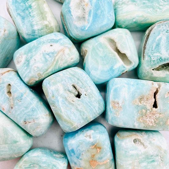 Aragonite bleue | pierre cubique