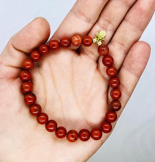 Bracelet mantra Homme - Jaspe rouge