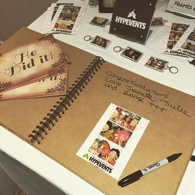 guestbook and props for Photo Booth