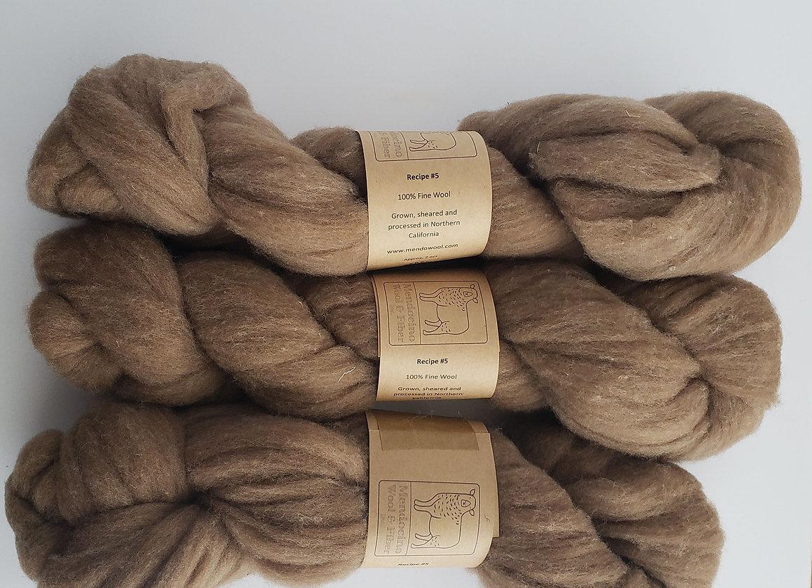 Recipe 5 Fine Colored Wool