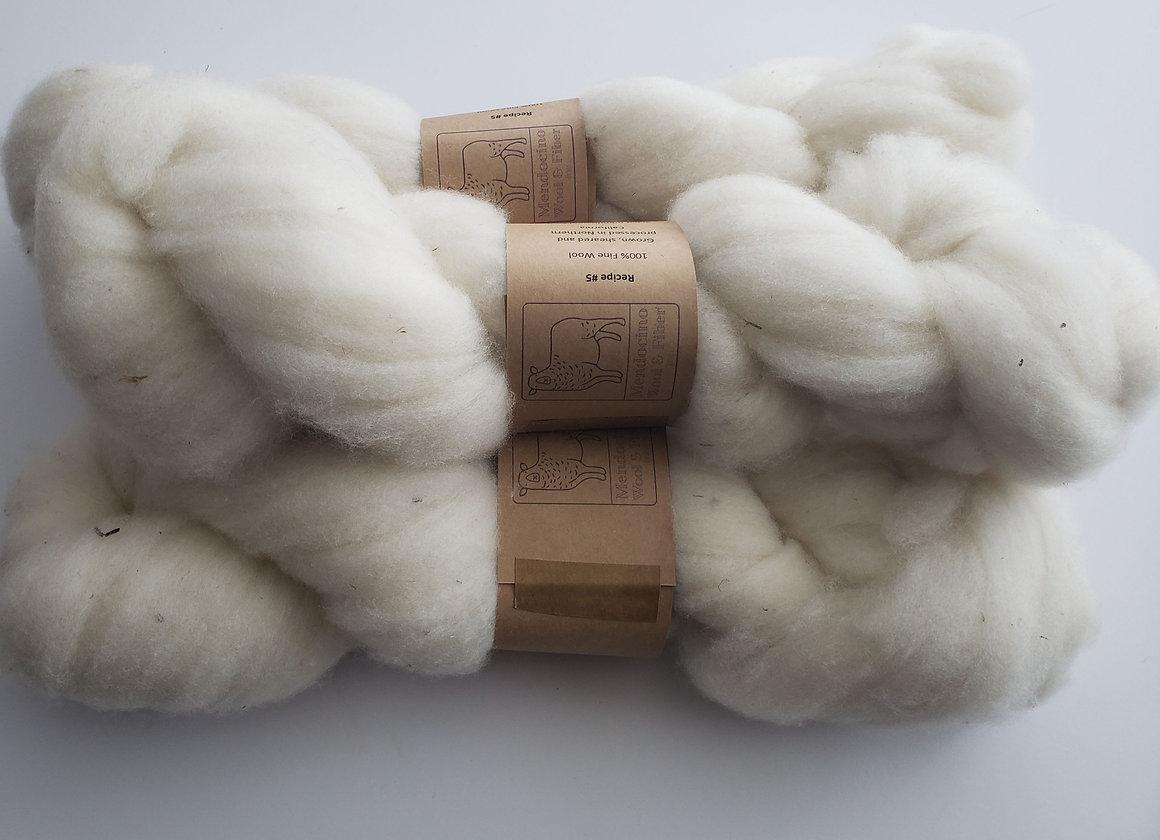Recipe 6 Fine White Wool