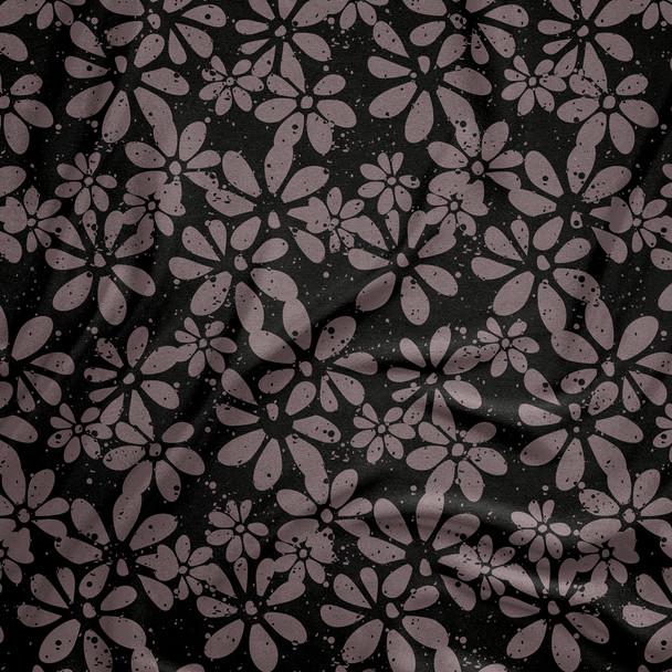 Grunge floral in black