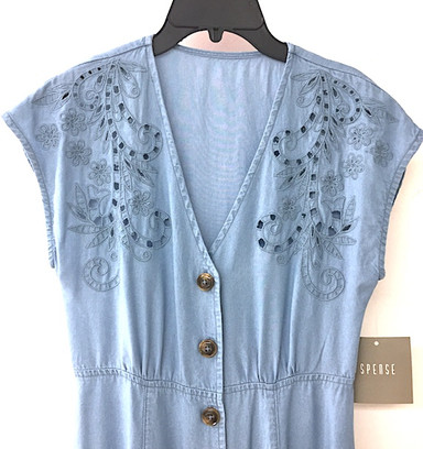 Embroidered tencel