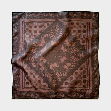 Harvest mix scarf in brown