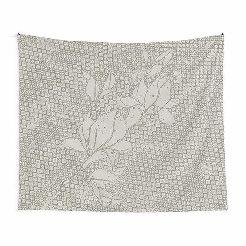 Bias floral tapestry