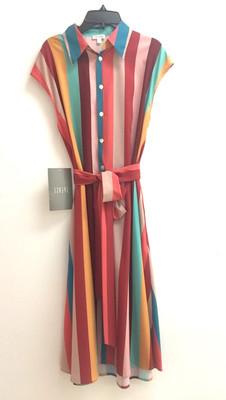 printed stripe CDC dress