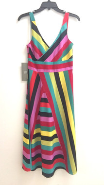 printed stripe CDC dress