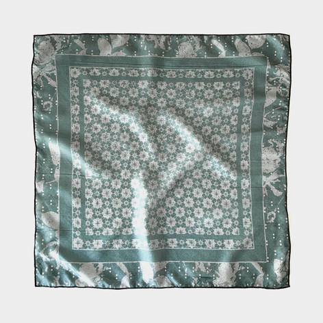 Turk tile scarf in teal