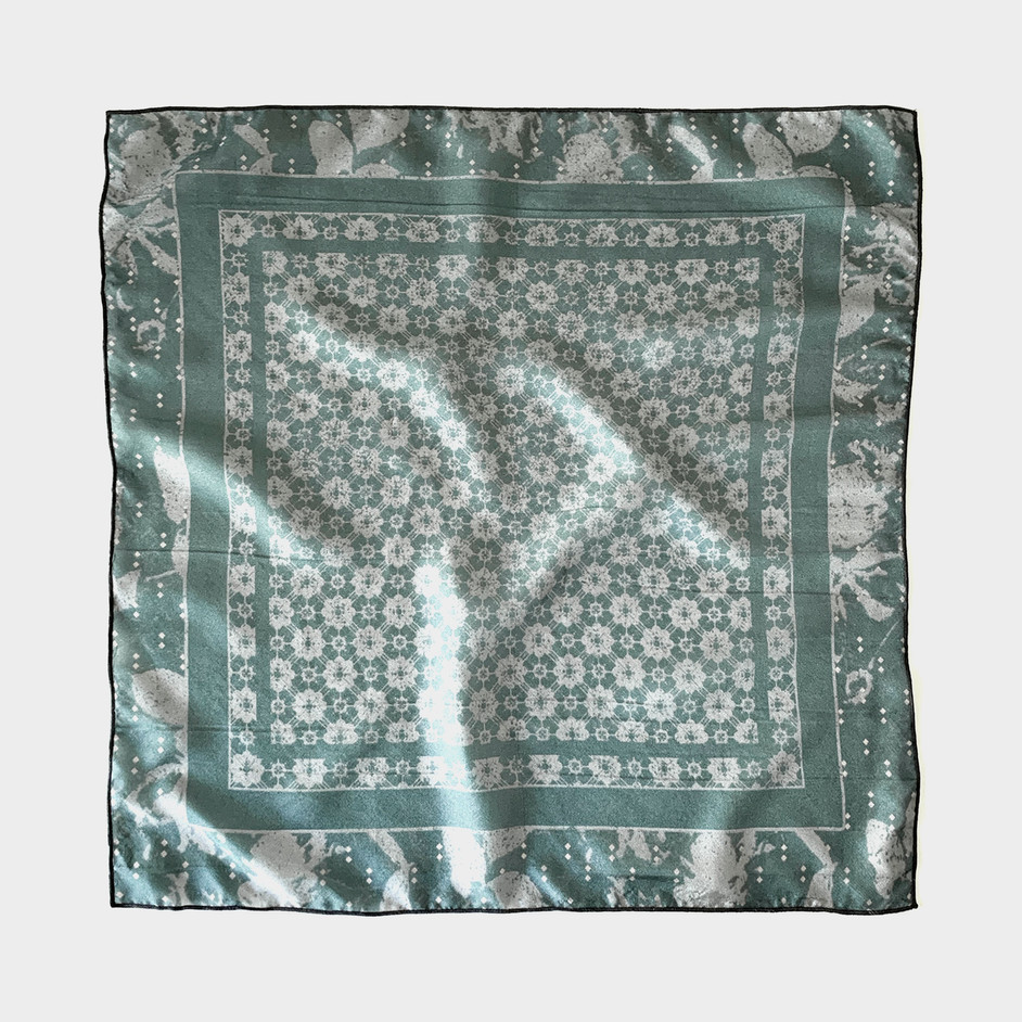 Turk tile scarf in teal