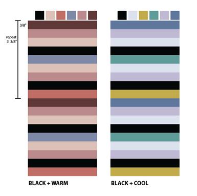 printed stripe colorways