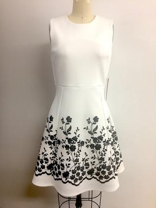 velvet flocking skirt
