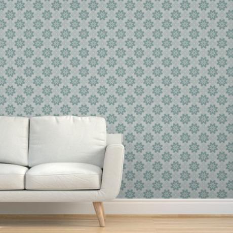 Geo floral wallpaper