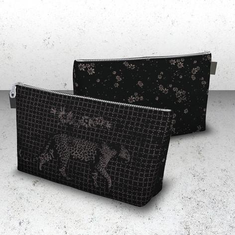 Mixed print travel bag