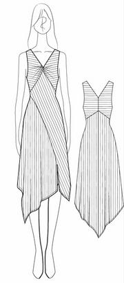 technical sketch w/ stripe direction