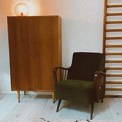 Vintage zetel & kleerkast