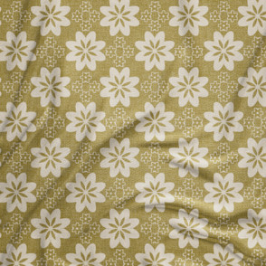 Geo floral in yellow