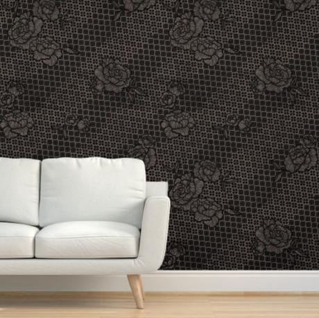 Bias floral wallpaper