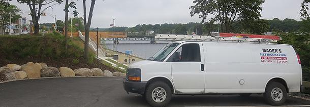 Mader's Refrigeration & Air Conditioning Work Van in Bridgewater Nova Scotia