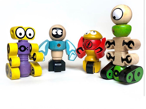 Tinker Totter Robots - 28 Piece Character Playset