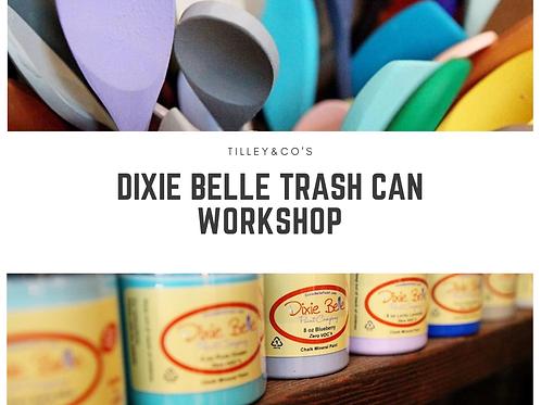 Dixie Belle Paint Trash Can Workshop