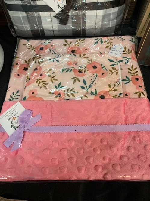 Minky Baby Blanket Sets
